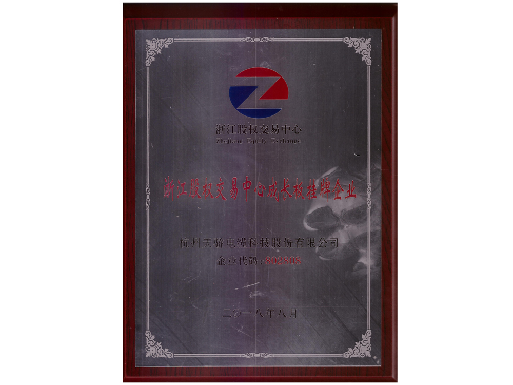Zhejiang Equity Exchange Center listed company on the growth board